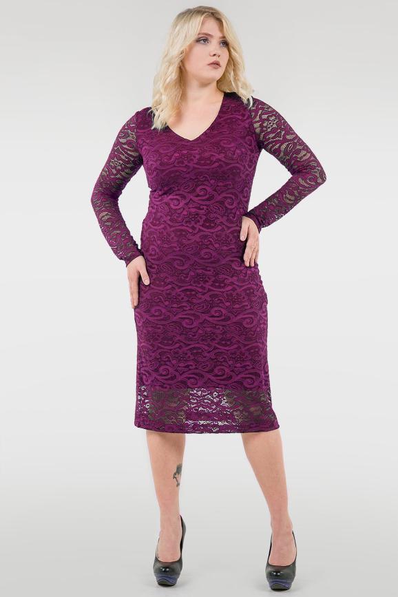 Платье футляр фуксии цвета 2760.12|интернет-магазин vvlen.com