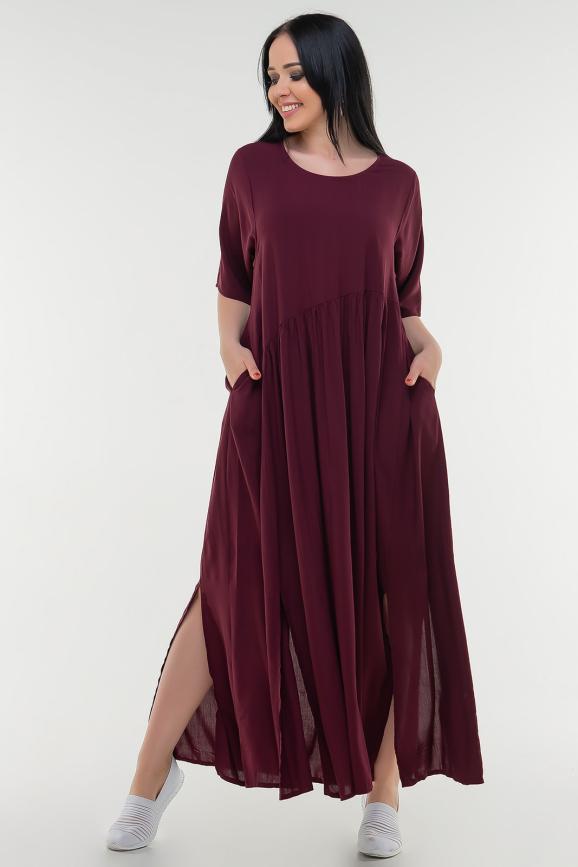 Летнее платье балахон марсалы цвета интернет-магазин vvlen.com
