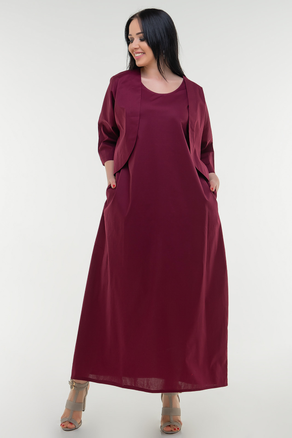 Летнее платье  мешок марсалы цвета 1220 it интернет-магазин vvlen.com