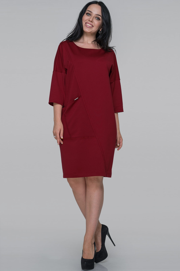 Платье  мешок бордового цвета |интернет-магазин vvlen.com