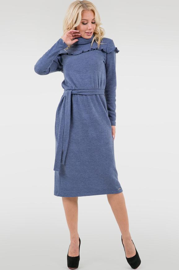 Повседневное платье гольф джинса цвета 2740.92|интернет-магазин vvlen.com