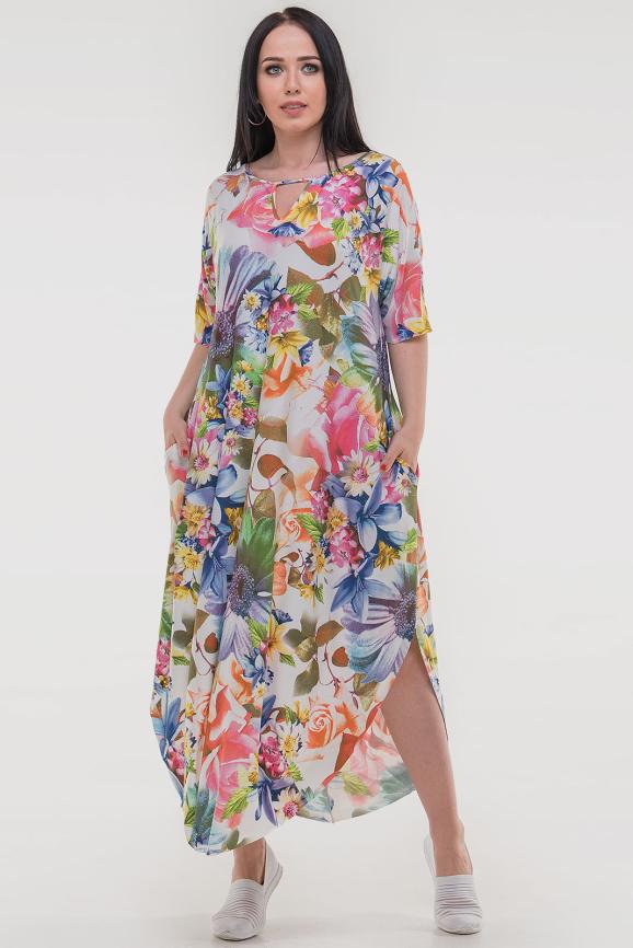 Летнее платье оверсайз розового тона цвета интернет-магазин vvlen.com