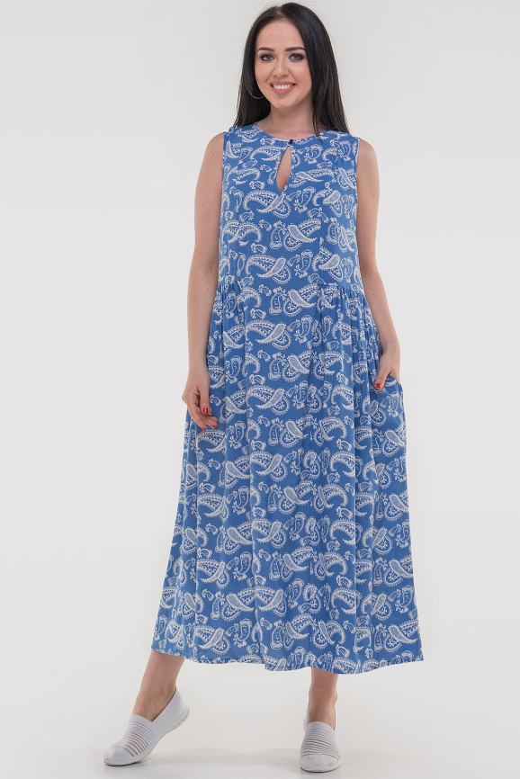 Летнее платье балахон джинса цвета|интернет-магазин vvlen.com
