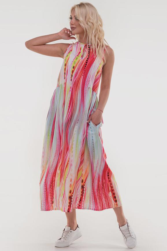 Летнее платье балахон розового цвета|интернет-магазин vvlen.com