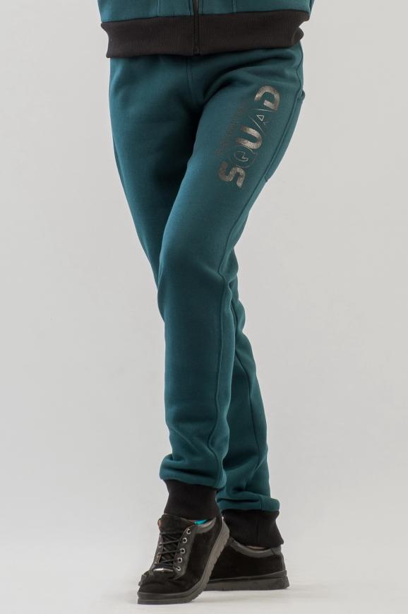 Спортивные брюки темно-зеленого цвета 159|интернет-магазин vvlen.com