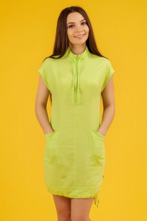 Повседневное платье футляр зеленого цвета 2331.81|интернет-магазин vvlen.com