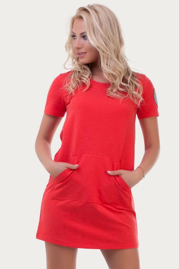 Спортивное платье  красного цвета 6000 интернет-магазин vvlen.com