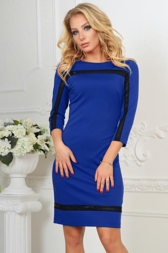 Повседневное платье футляр электрика цвета 2477.47 интернет-магазин vvlen.com