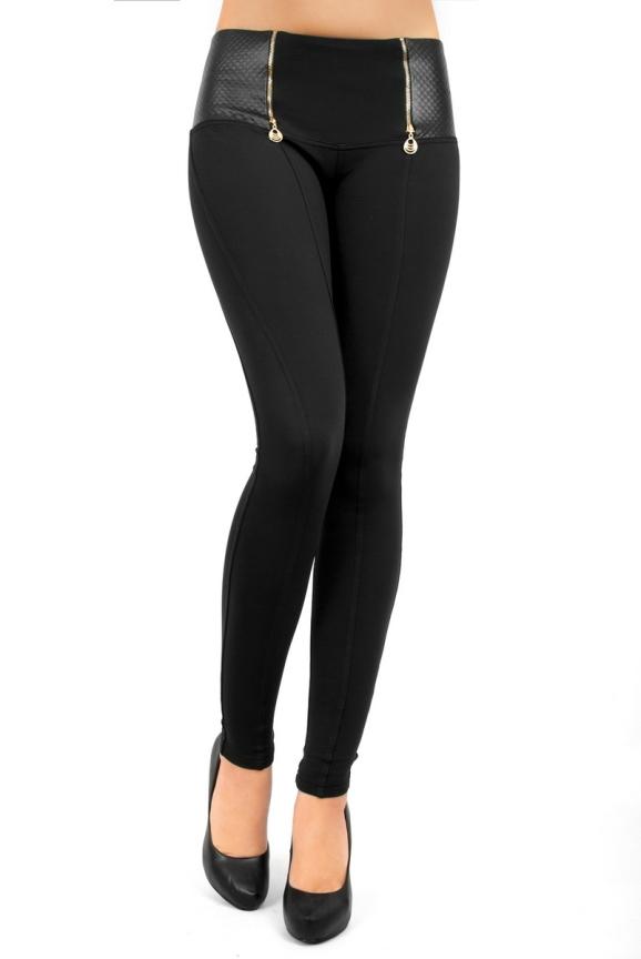 Женские лосины черного цвета 2269.74|интернет-магазин vvlen.com