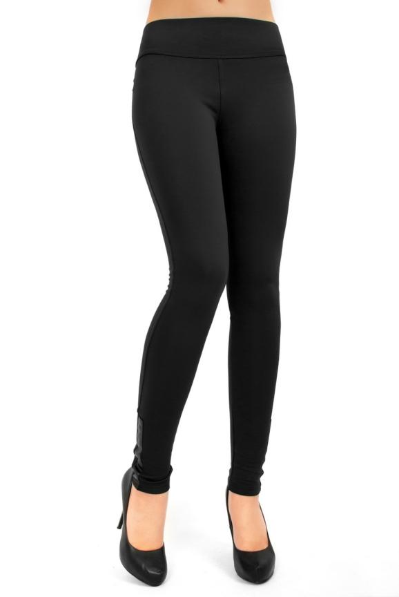 Женские лосины черного цвета 2259.74|интернет-магазин vvlen.com