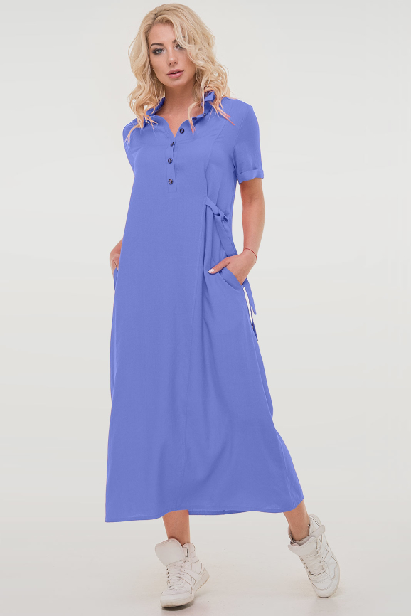 Летнее платье рубашка джинса цвета 2797.84|интернет-магазин vvlen.com