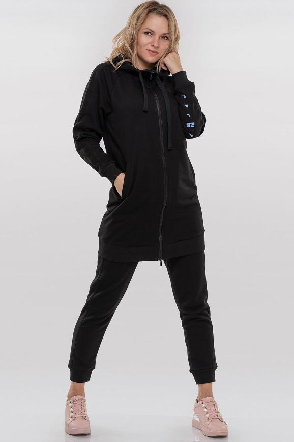 Спортивный костюм черного цвета 093|интернет-магазин vvlen.com