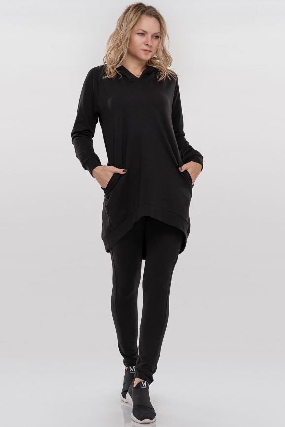 Спортивный костюм черного цвета 090|интернет-магазин vvlen.com