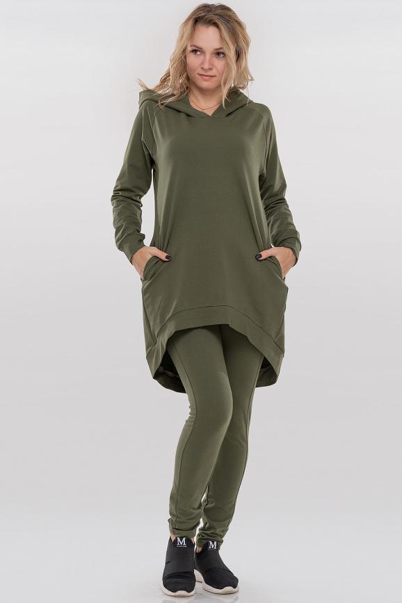 Спортивный костюм хаки цвета 090|интернет-магазин vvlen.com