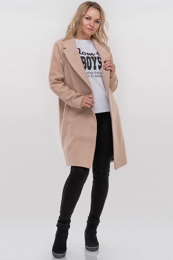 Пальто бежевого цвета 094|интернет-магазин vvlen.com