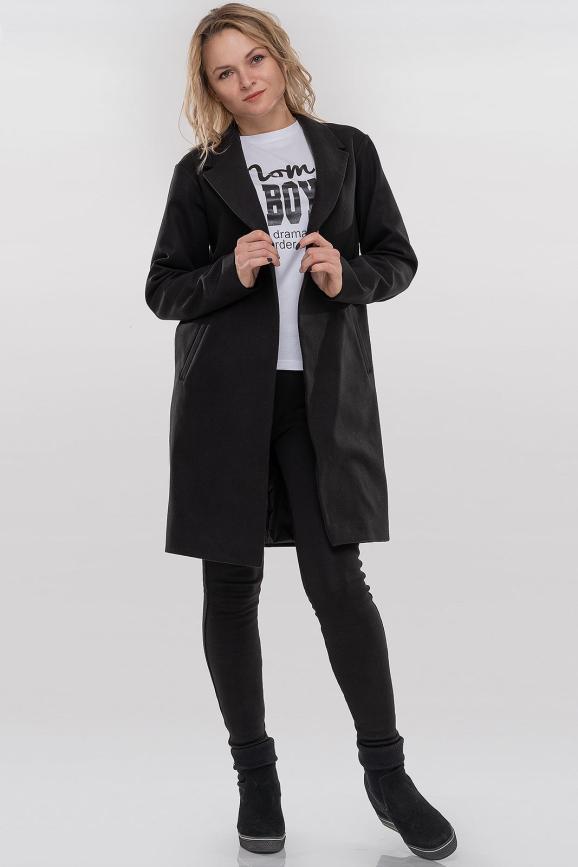 Пальто черного цвета 094 интернет-магазин vvlen.com