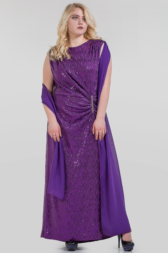 Платье футляр синего цвета 1-2806|интернет-магазин vvlen.com
