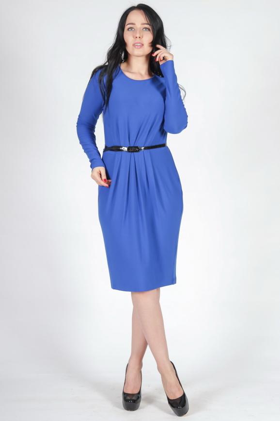 Повседневное платье с юбкой тюльпан электрика цвета 1691.14|интернет-магазин vvlen.com