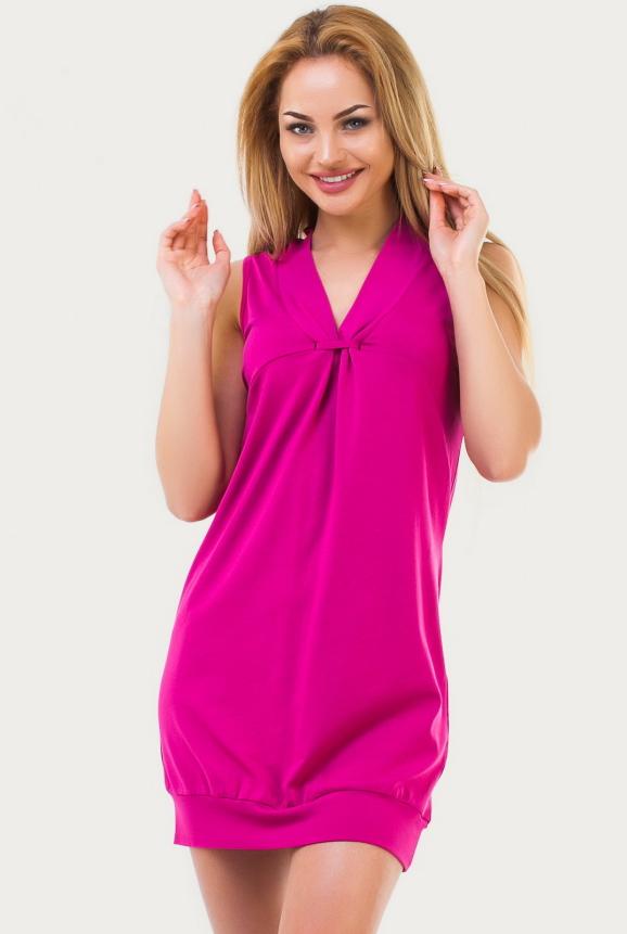 Летнее платье  мешок малинового цвета 1522.17|интернет-магазин vvlen.com