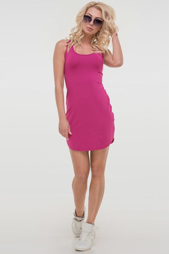 Летнее спортивное платье малинового цвета 1532.17|интернет-магазин vvlen.com