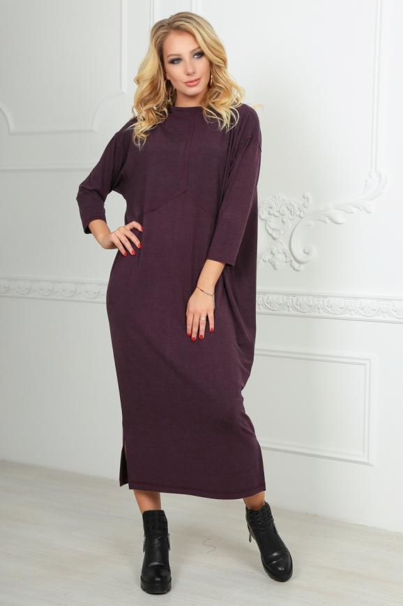Платье оверсайз бордового цвета 2484.17|интернет-магазин vvlen.com