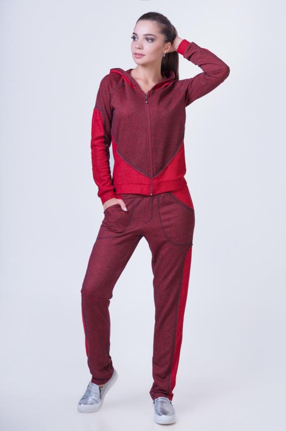 Домашний костюм красного цвета 2385.87 интернет-магазин vvlen.com