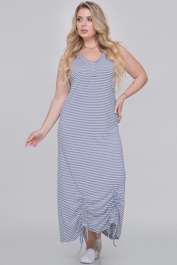 Летнее платье  мешок полоски джинс цвета|интернет-магазин vvlen.com