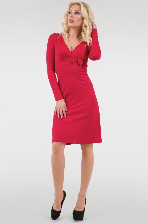 Коктейльное платье трапеция красного цвета 1381.2 интернет-магазин vvlen.com