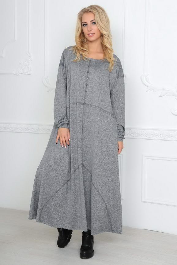 Платье оверсайз серого цвета|интернет-магазин vvlen.com