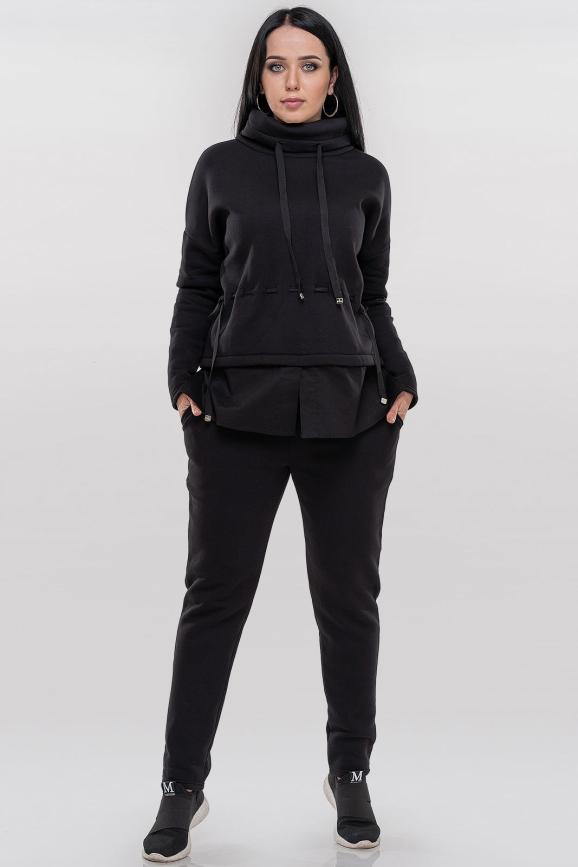 Спортивный костюм черного цвета 008|интернет-магазин vvlen.com