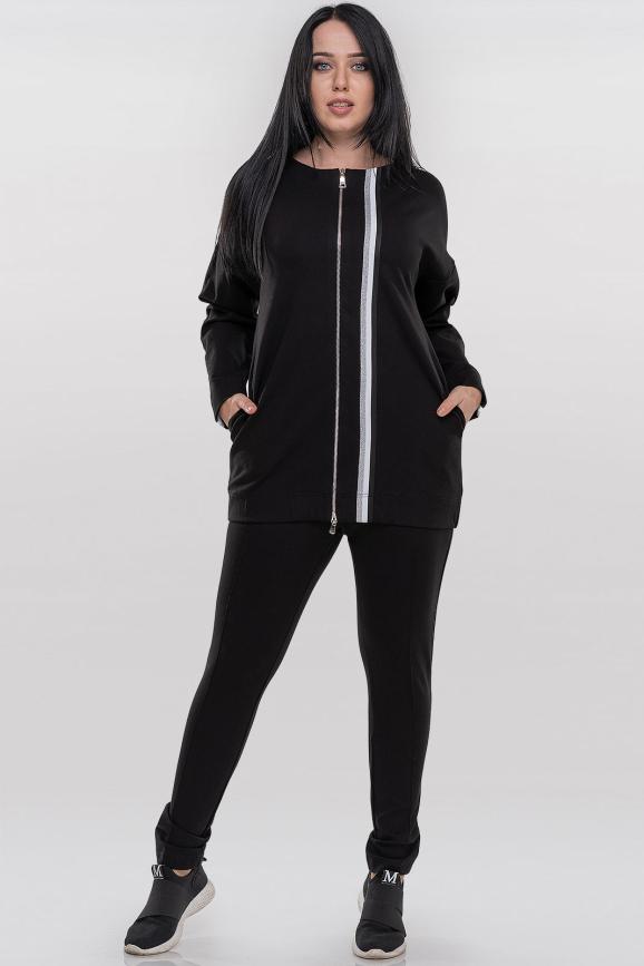 Спортивный костюм черного цвета |интернет-магазин vvlen.com