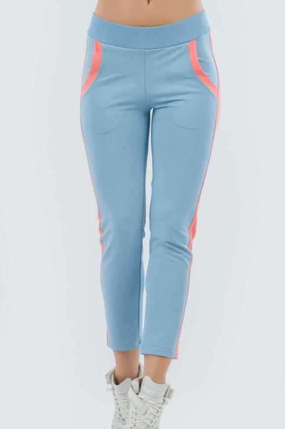 Спортивные брюки голубого цвета 2093.56|интернет-магазин vvlen.com