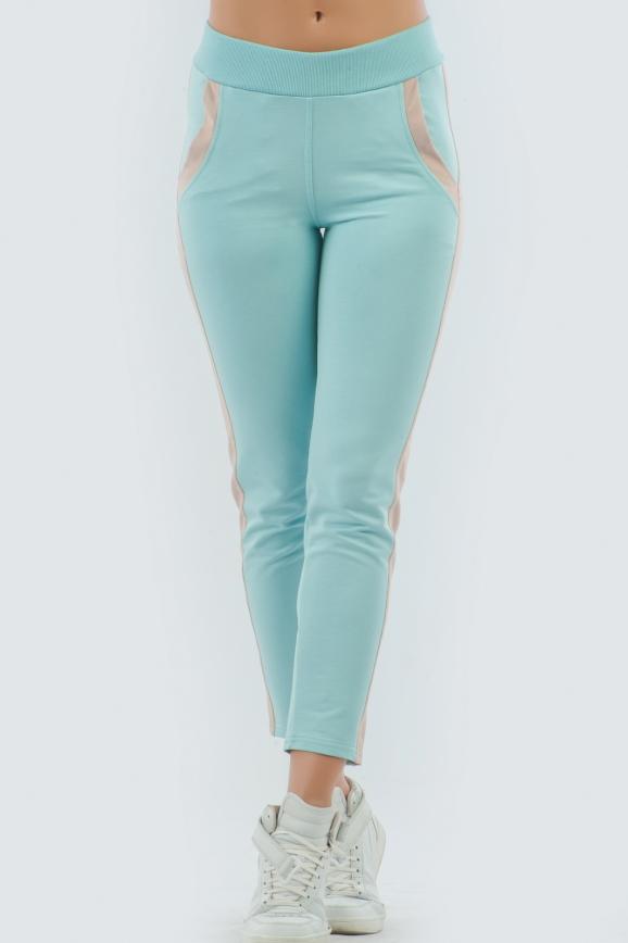 Спортивные брюки ментола цвета 2093.56|интернет-магазин vvlen.com
