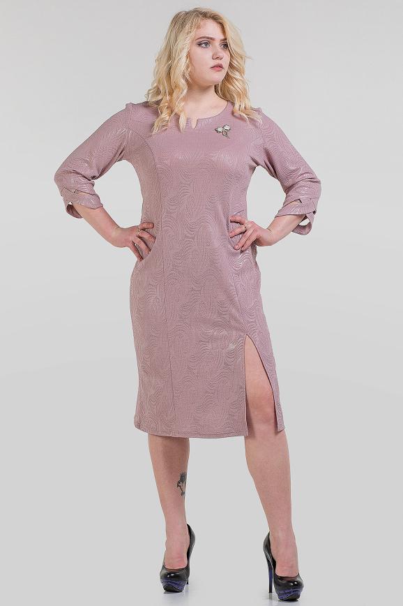 Платье футляр бежевого цвета 1-1319|интернет-магазин vvlen.com