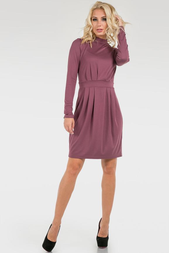 Монохромное трикотажное платье|интернет-магазин vvlen.com