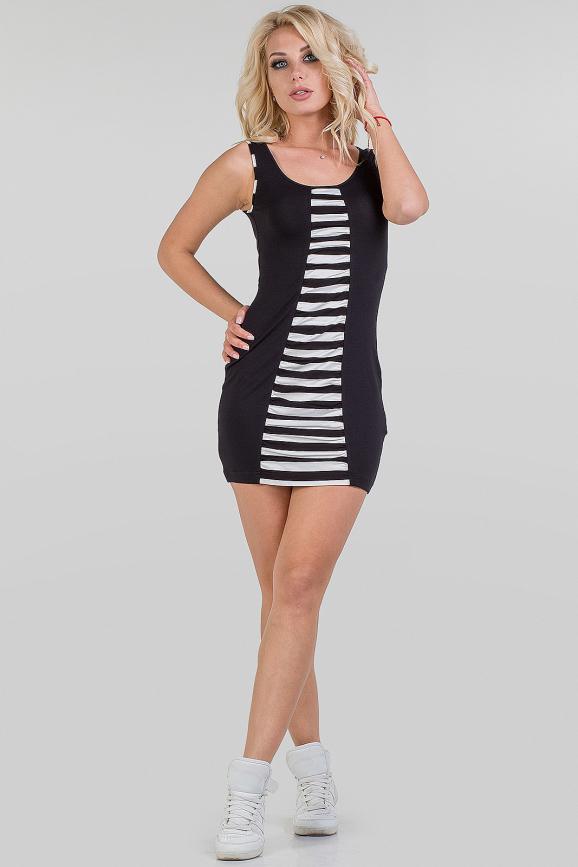 Летнее спортивное платье черного цвета|интернет-магазин vvlen.com