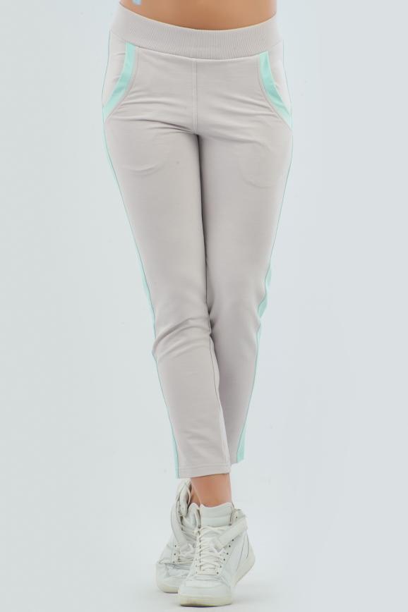Спортивные брюки серого цвета 2093.56 интернет-магазин vvlen.com