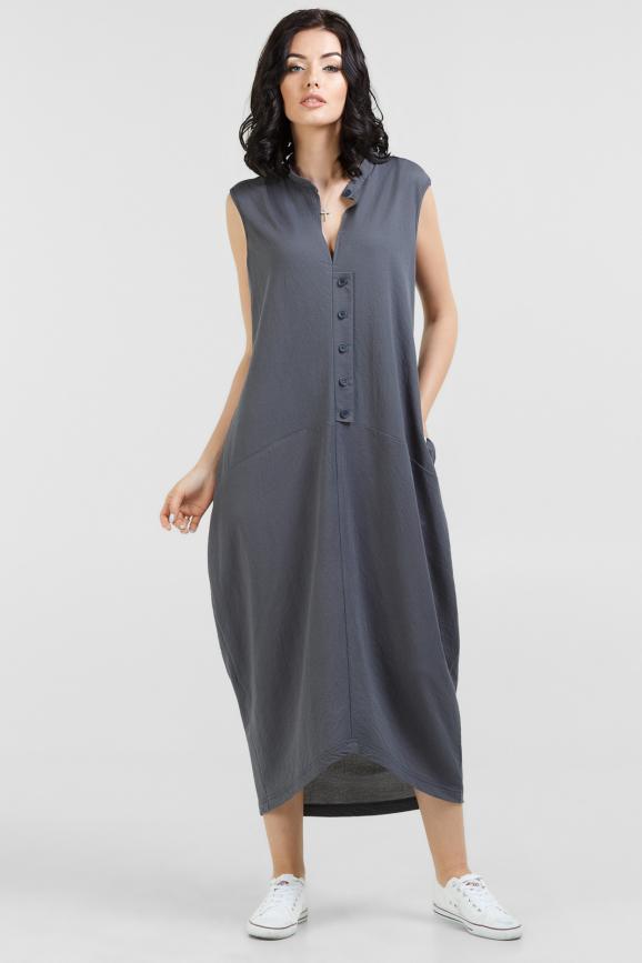 Летнее платье  мешок серого цвета 2539-1.101|интернет-магазин vvlen.com