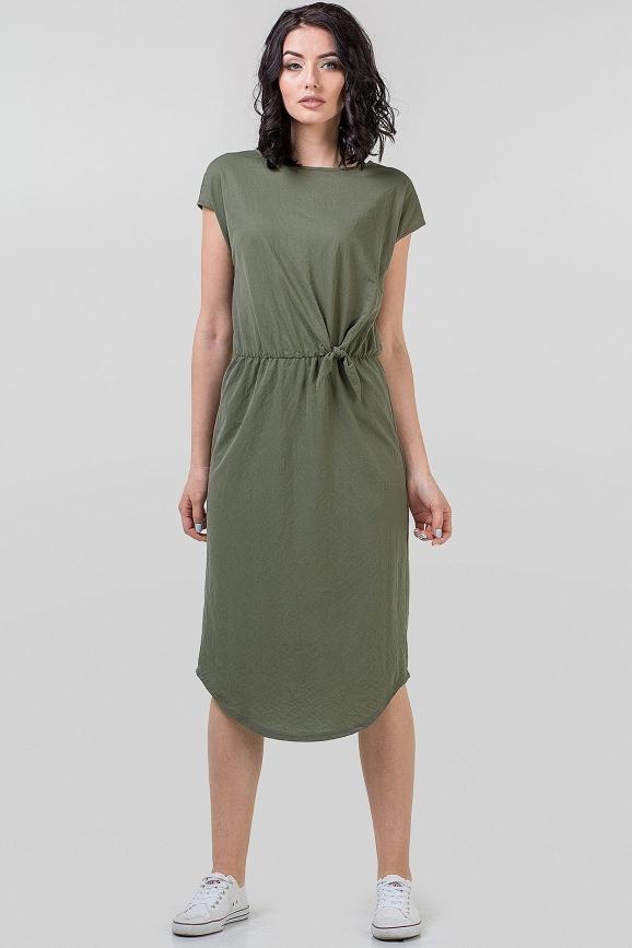 Летнее платье футляр хаки цвета 2683.101|интернет-магазин vvlen.com
