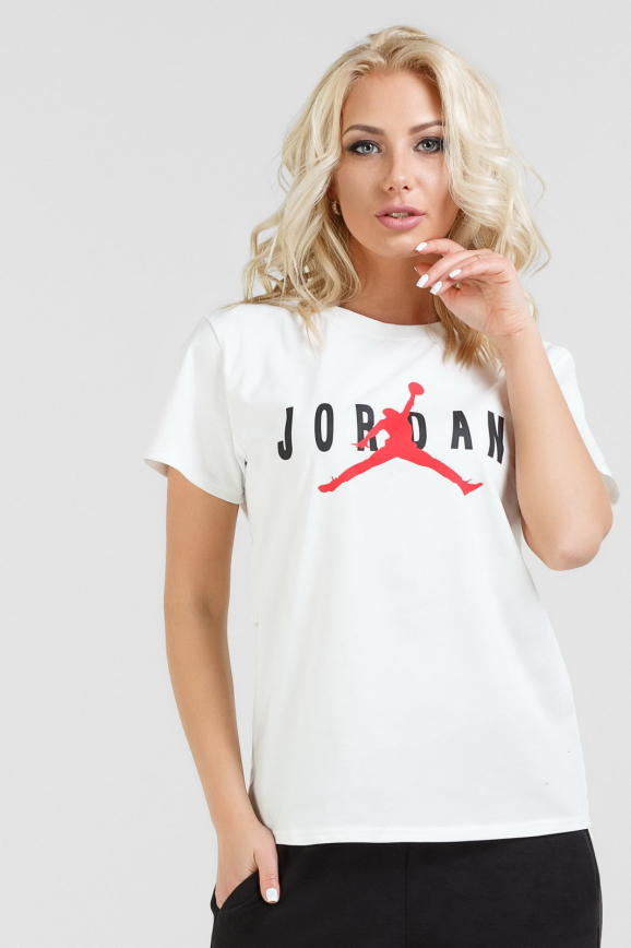 Женская футболка белого цвета с принтом|интернет-магазин vvlen.com