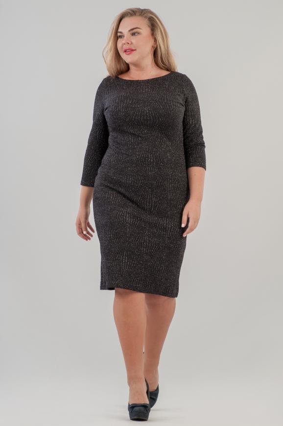 Платье футляр черного цвета 2218.98 |интернет-магазин vvlen.com