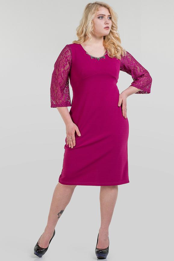 Платье футляр фуксия цвета |интернет-магазин vvlen.com