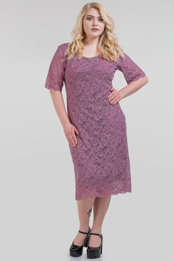 Летнее платье футляр фуксии цвета 1-1310 интернет-магазин vvlen.com
