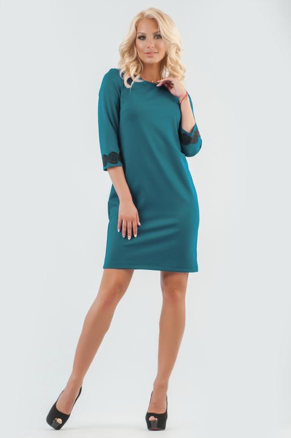 Коктейльное платье футляр морской волны цвета интернет-магазин vvlen.com
