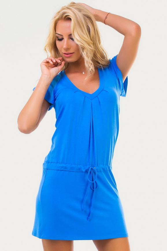 Летнее платье футляр голубого цвета интернет-магазин vvlen.com