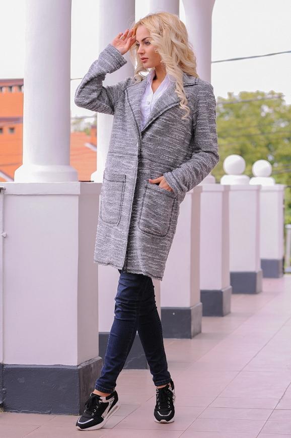 Кардиган модный серого цвета 2393.21|интернет-магазин vvlen.com