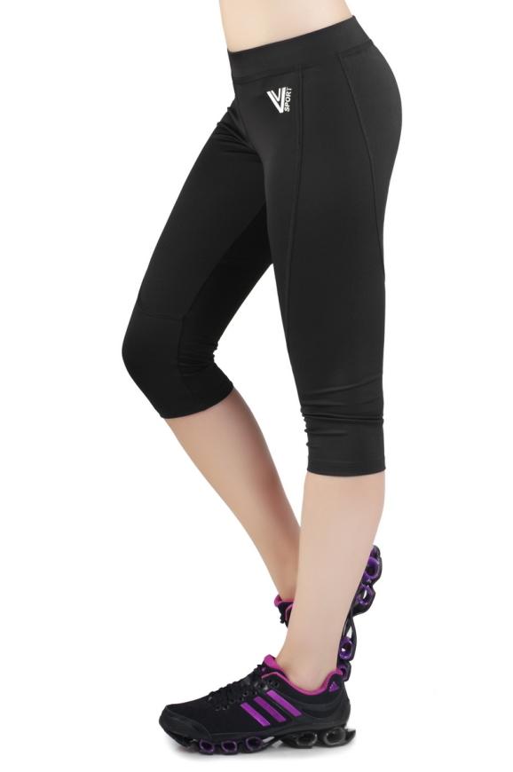 Бриджи для фитнеса черного с серым цвета 2236.67|интернет-магазин vvlen.com