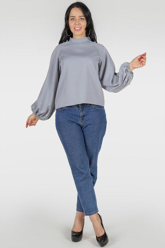 Блуза серый цвета 382|интернет-магазин vvlen.com