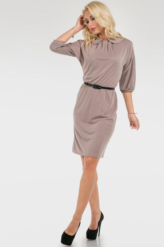 Трикотажное однотонное платье|интернет-магазин vvlen.com