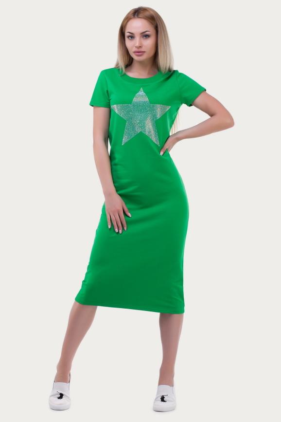 Спортивное платье  зеленого цвета|интернет-магазин vvlen.com